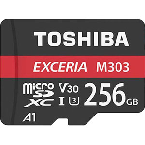 東芝【海外パッケージ】 【microSDXC 256GB】THN-M303R2560A2【UHS-1】Read Speed98MB/s Write Speed65MB/s アダプタ付