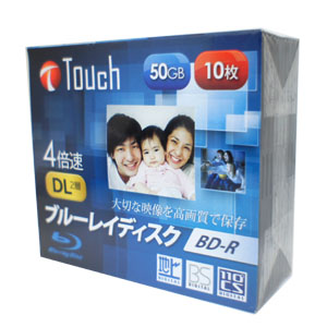 Touch BR50DVPW10S4 BD-R 50GB 4倍速 10枚