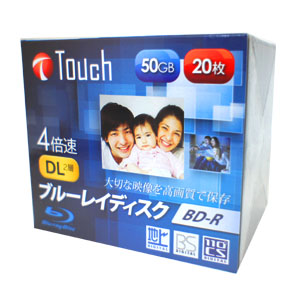 Touch BR50DVPW20S4 BD-R 50GB 4倍速 20枚