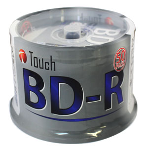 Touch 【メーカーサポートなしなので大特価!】BR25DPW50SP BD-R BDR 25GB 6倍速 50枚