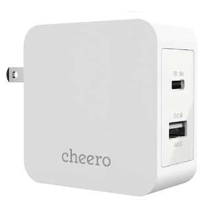 cheero 2 port PD Charger White CHE-327-WH